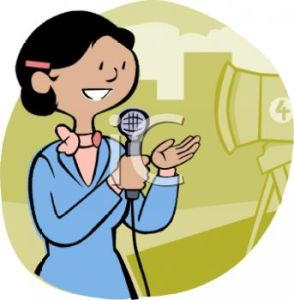 0511-1002-1916-2168_Cartoon_of_a_Female_News_TV_Reporter_on_Camera_clipart_image