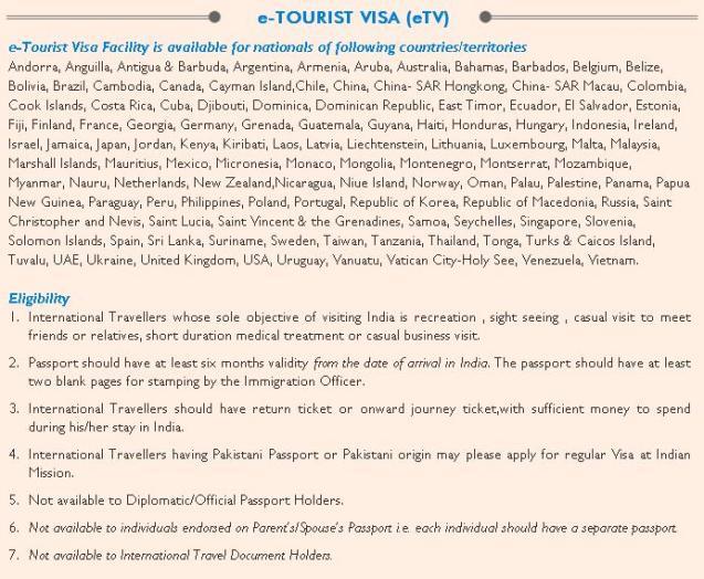 Visa list