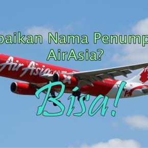 Cara Mudah Koreksi Nama PenumpangAirAsia