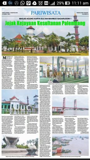 Masjid Agung : Bukti Jejak Kejayaan KesultananPalembang