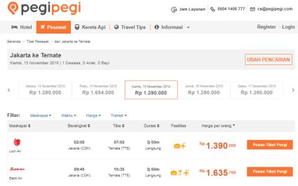Beli pesawat lewat Pegipegi mudah!