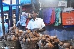 Penjual kelapa di Kerala